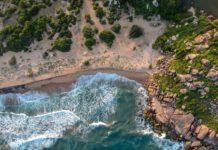 Strand på Sri Lanka oppefra